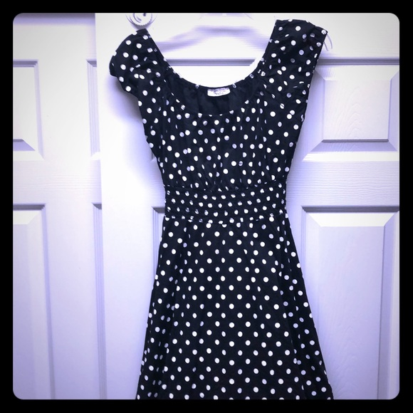 Vintage Dresses | 80s Black And White Polka